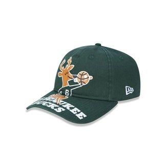 4c9a1c7ef4 Boné 920 Milwaukee Bucks NBA Aba Curva Strapback New Era