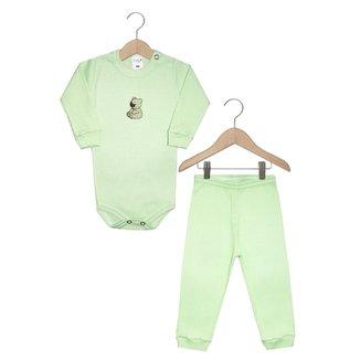Conjunto Body Zupt Baby Canelado Bebê e14ace3fd10