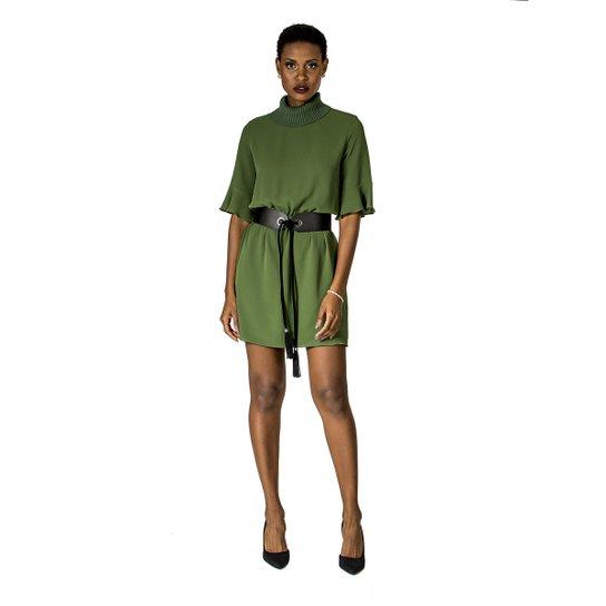 f4d1e3c5f Vestido Gola Retilínea Alphorria - Verde - Compre Agora | Zattini