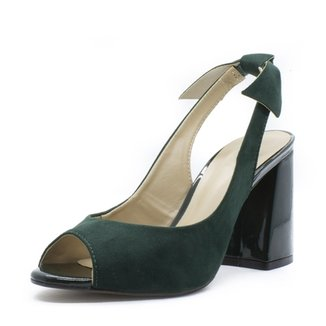 295016b424 Sandália Shoes INBOX Loop Salto Bloco Laço Traseiro Feminina