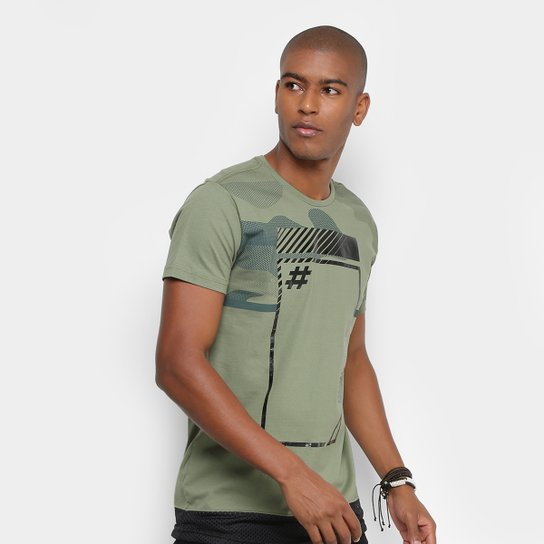 e6a4953ec70 Camiseta Gangster Estampada Tela Masculina - Compre Agora