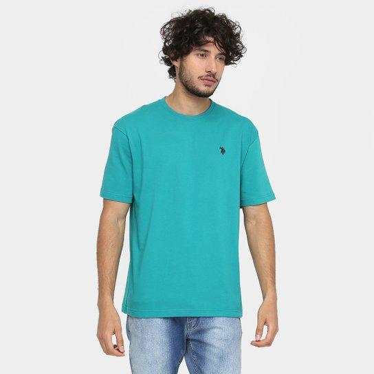 Camiseta U.S. Polo Assn Básica - Verde - Compre Agora  564b35a74110a