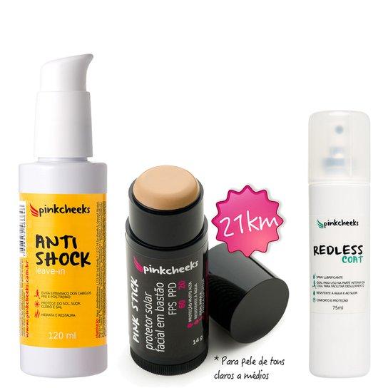 Kit Pinkcheeks Anti Shock Leave-in 120ml + Filtro Solar Facial Pink Stick  21 KM 00b9c489c2610