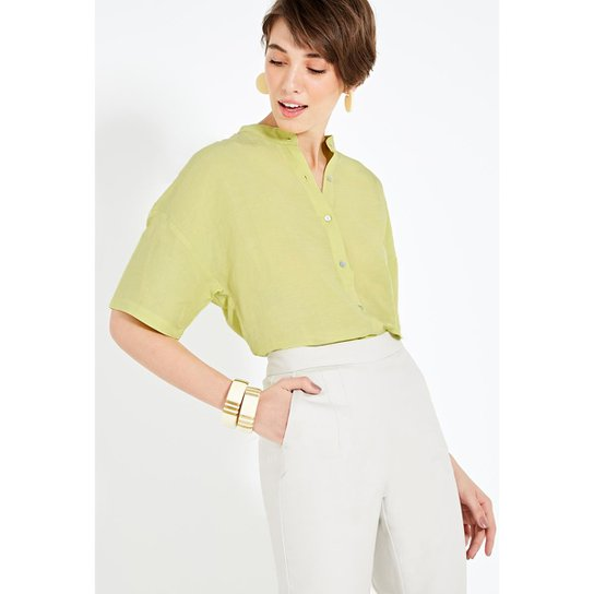 Camisa Enjoy Gola Padre Feminina - Verde - Compre Agora   Zattini 7eadf44f44
