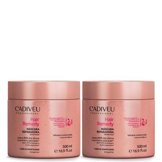 a4acb0516 Hair Remedy Cadiveu Máscara Reparadora kit 2x 500ml - Compre Agora ...