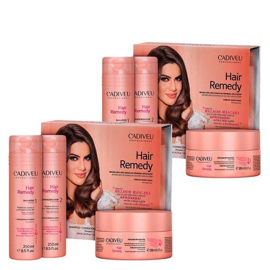 01d72c974 Kit Cadiveu Hair Remedy 1 Shampoo 250ml + 1 Cond. 980ml + 1 Sérum 15 ...