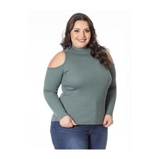 6c1055476 Blusa Beline Plus Size Ombros Vazados Miss Masy