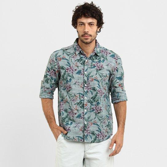 Camisa Wöllner Linho Floral - Compre Agora   Zattini e93025308e