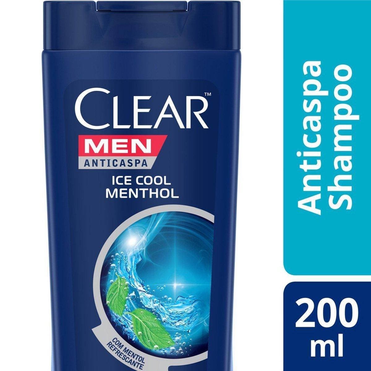 Shampo Clear Ice Cool Menthol Anticaspa 200ml
