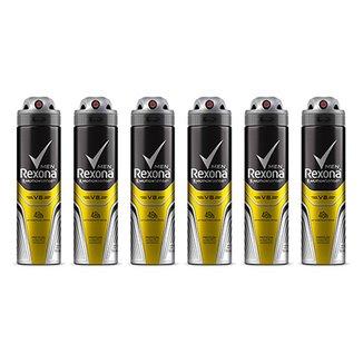 91cebf5b30 Kit Desodorante Rexona Men V8 48 horas Aerosol Masculino 150ml com 6  unidades