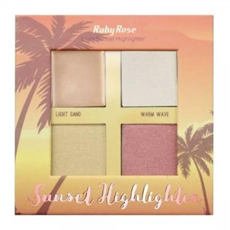bf7bb9071 Paleta De Iluminador Sunset Highlighter Light Ruby Rose HB-7504/L