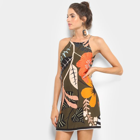 fb32390f0 Vestido Farm Estampado Amarração Lateral | Zattini