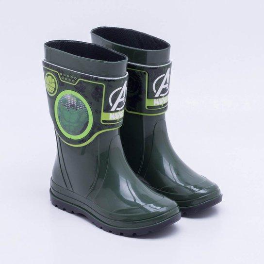 b2481664178 Bota Galocha Grendene Holográfico Infantil Hulk - Verde - Compre ...