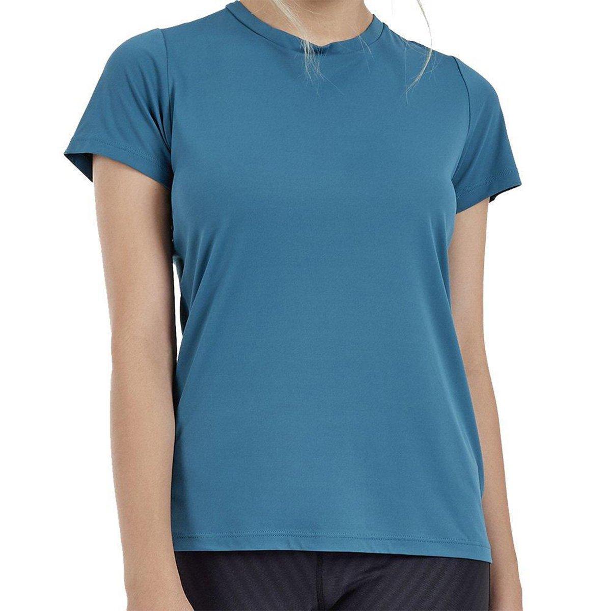 Camiseta Alto Giro Skin Fit Rolete Costas Feminina