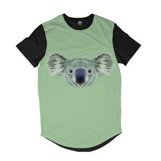 d950e7a98b Camiseta Longline BSC Cara de Coala Sublimada Masculina