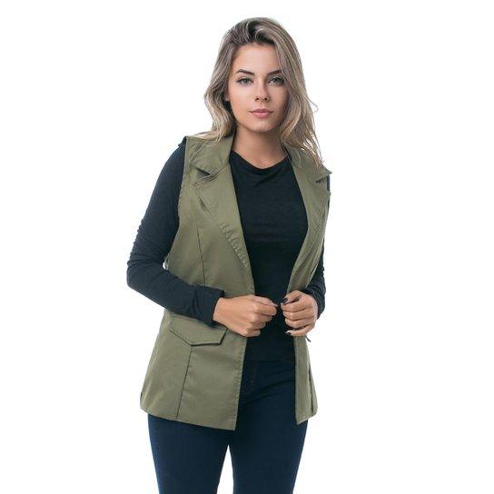 11a3d5eee Colete PKD Estruturado Militar Feminino - Verde | Zattini