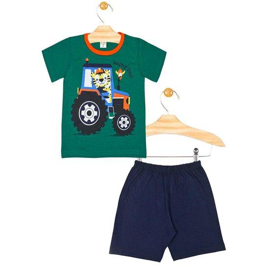 84894203bd6845 Pijama Infantil Tycaro Masculino - Verde