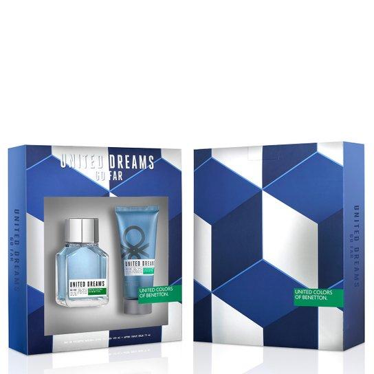 1baeae7dd Perfume United Dreams Go Far Masculino Benetton Eau de Toilette 100ml + Pós  Barba 75ml -