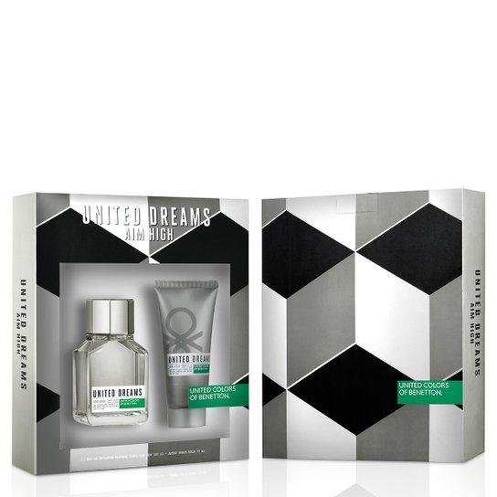23e629583 Kit Perfume United Dream U.D. Aim High Masculino Benetton Eau de Toilette  100ml + Pós Barba