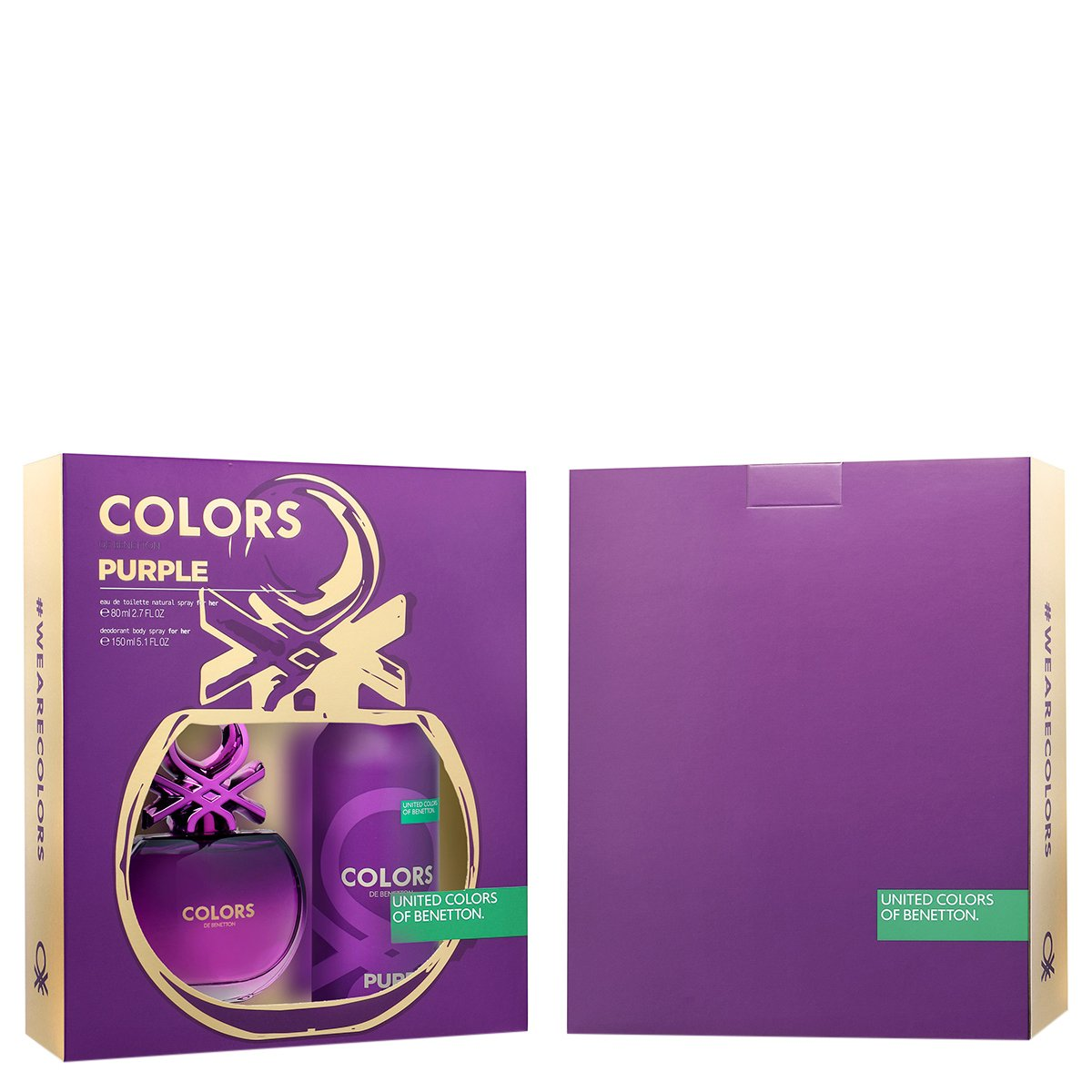 Kit Perfume Feminino Colors Purple Benetton Eau de Toilette 80ml + Desodorante 150ml
