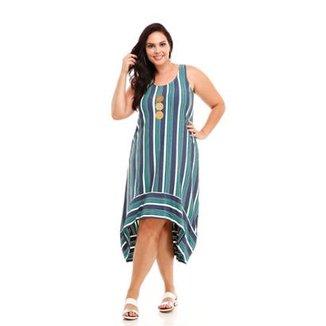 8ddcb5470c ... Curto Chemise Linho · Confira · Vestido Melinde Plus Size Mullet  Listrado