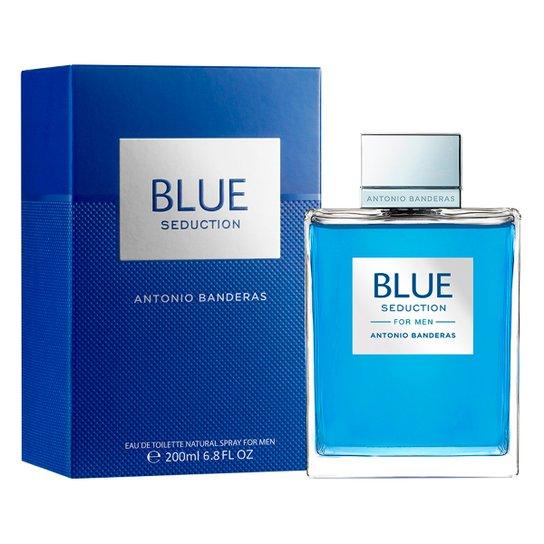 ac9ad75da Antonio Banderas Perfume Masculino Blue Seduction EDT 200ml - Incolor