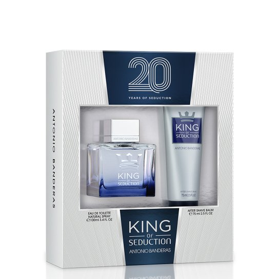 902e5f668b Kit Perfume Masculino King Of Sedction Antonio Banderas EDT 100ml + Balm  Pós Barba 75ml -