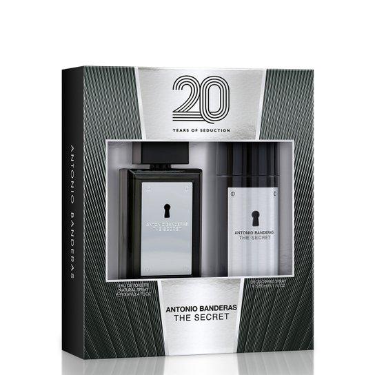 011ca7a55 Kit Perfume The Secret Masculino Antonio Banderas EDT 100ml + Desodorante  150ml - Incolor