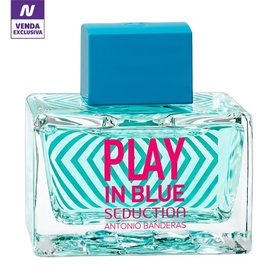 8ddbee83b Perfume Play In Blue Seduction Feminino Antonio Banderas EDT 80ml - Incolor