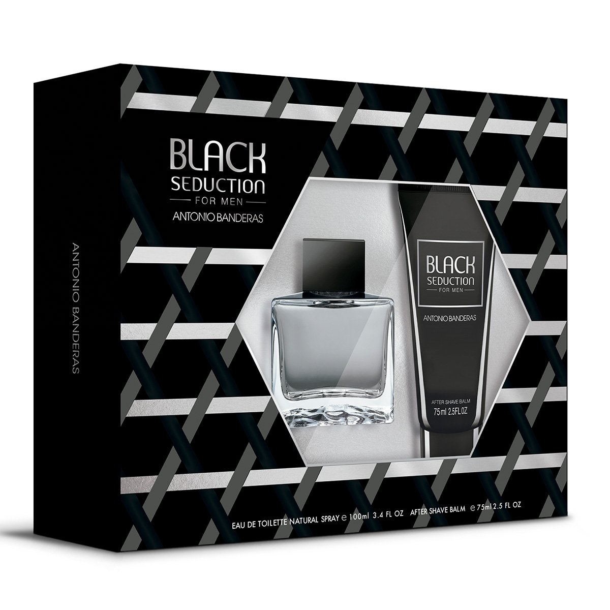 Kit Antonio Banderas Seduction in Black Men - Eau de Toilette 100ml+ Pós-Barba 75ml