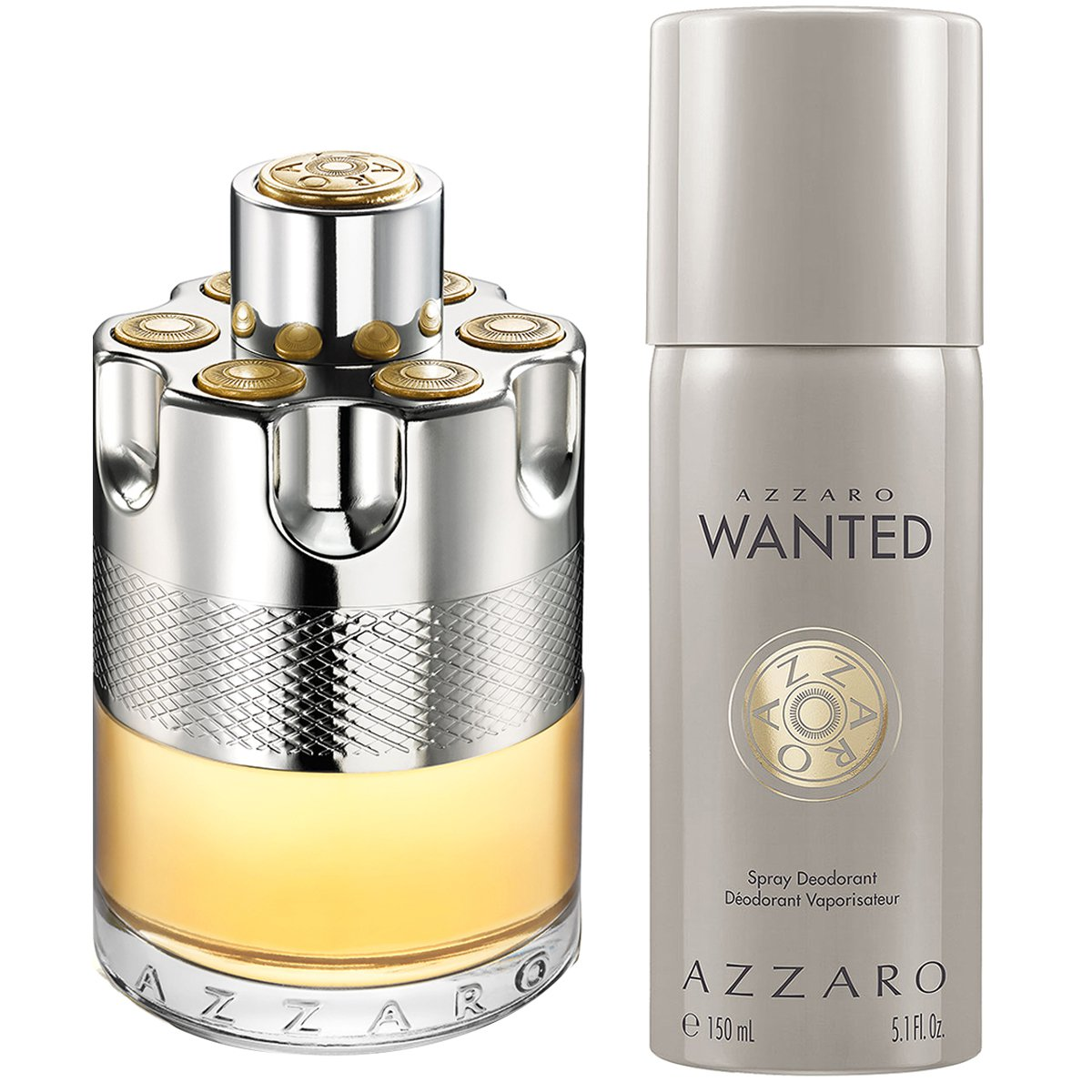 30d75fa3a5 Kit Azzaro Perfume Masculino Wanted EDT 100ml + Desodorante Masculino  Wanted 150ml