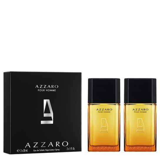 b8b2eb424 Kit Perfume Pour Homme Masculino Azzaro Eau de Toilette 30ml com 2 unidades  - Incolor