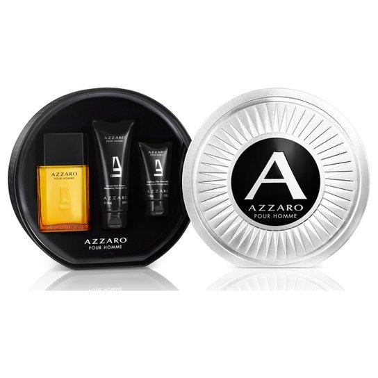 e756e3a9fb Kit Perfume Azzaro Pour Homme Masculino EDT 100ml + Body Shampoo 100ml +  After Shave Balm