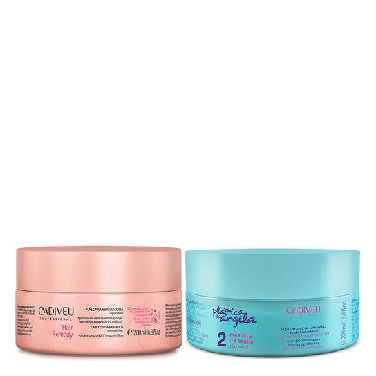 f1b0a6c2f Kit Cadiveu 2 Máscaras - Argila Plástica de Argila 200ml + Reparadora Hair  Remedy 200ml -