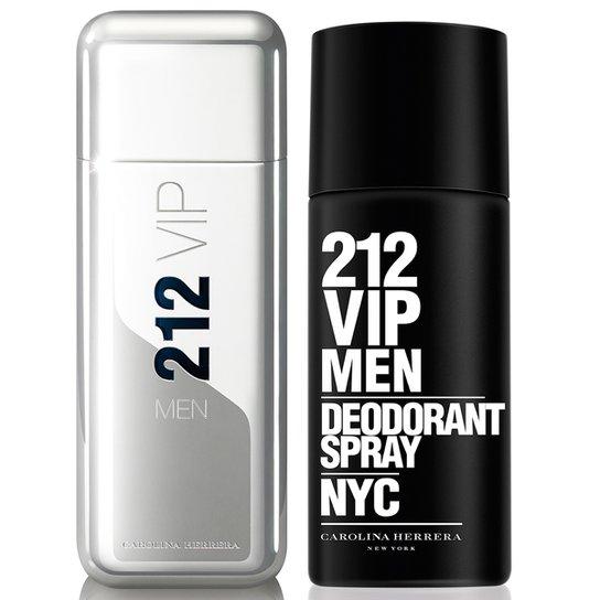 Kit Carolina Herrera Perfume Masculino 212 Vip Men Ns EDT 100ml +  Desodorante 212 Vip Men 47dbb99aad
