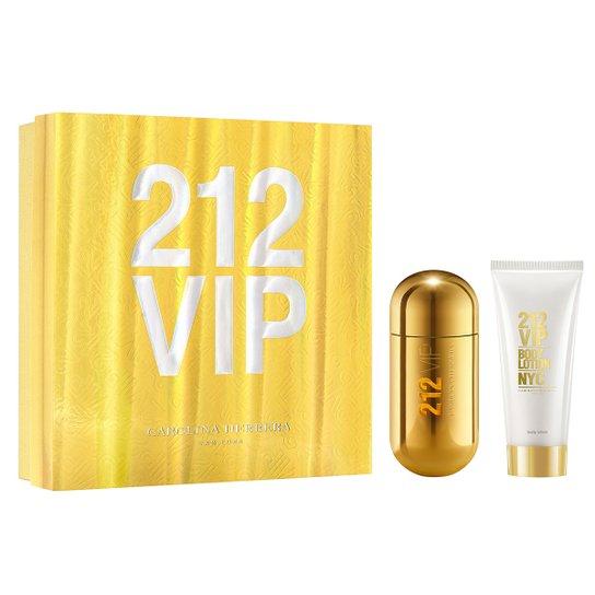fe774fd1fc Kit Perfume Feminino Carolina Herrera 212 VIP EDP 80ml + Loção Corporal  100ml - Incolor
