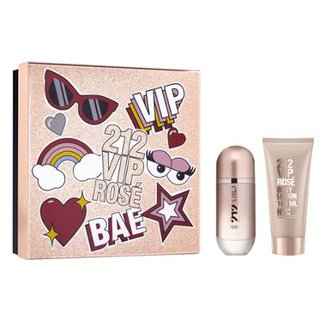 4beb8d1a1417d Kit 1 Perfume Feminino Carolina Herrera 212 Vip Rosé Eau de Parfum 80ml + 1  Loção