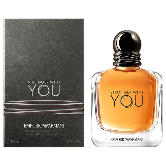 Perfume Stronger with You Masculino Giorgio Armani EDT 100ml - Incolor 3291740713