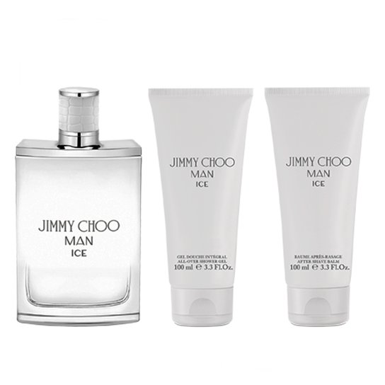 2d3a5b091 Kit Perfume Masculino Jimmy Choo Man Ice Eau de Toilette + Gel de Banho +  Pós