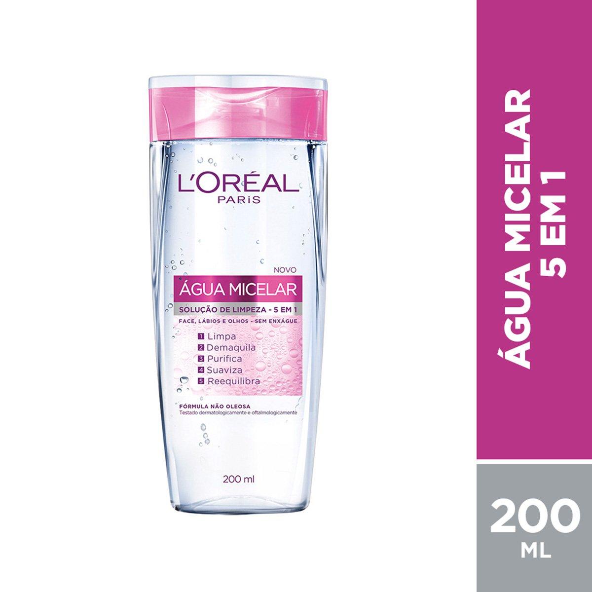 Água Micelar Solução de Limpeza 5 em 1 L'Oréal Paris - 200ml