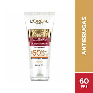 5442c289a Protetor Facial L Oreal Paris Solar Expertise Antirrugas FPS 60 50g