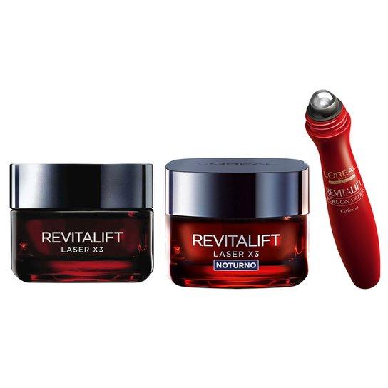 Kit L Oréal Paris Revitalift Laser X3 Diurno +Revitalift Laser X3 Noturno +  Revitalift a9f4e77a45