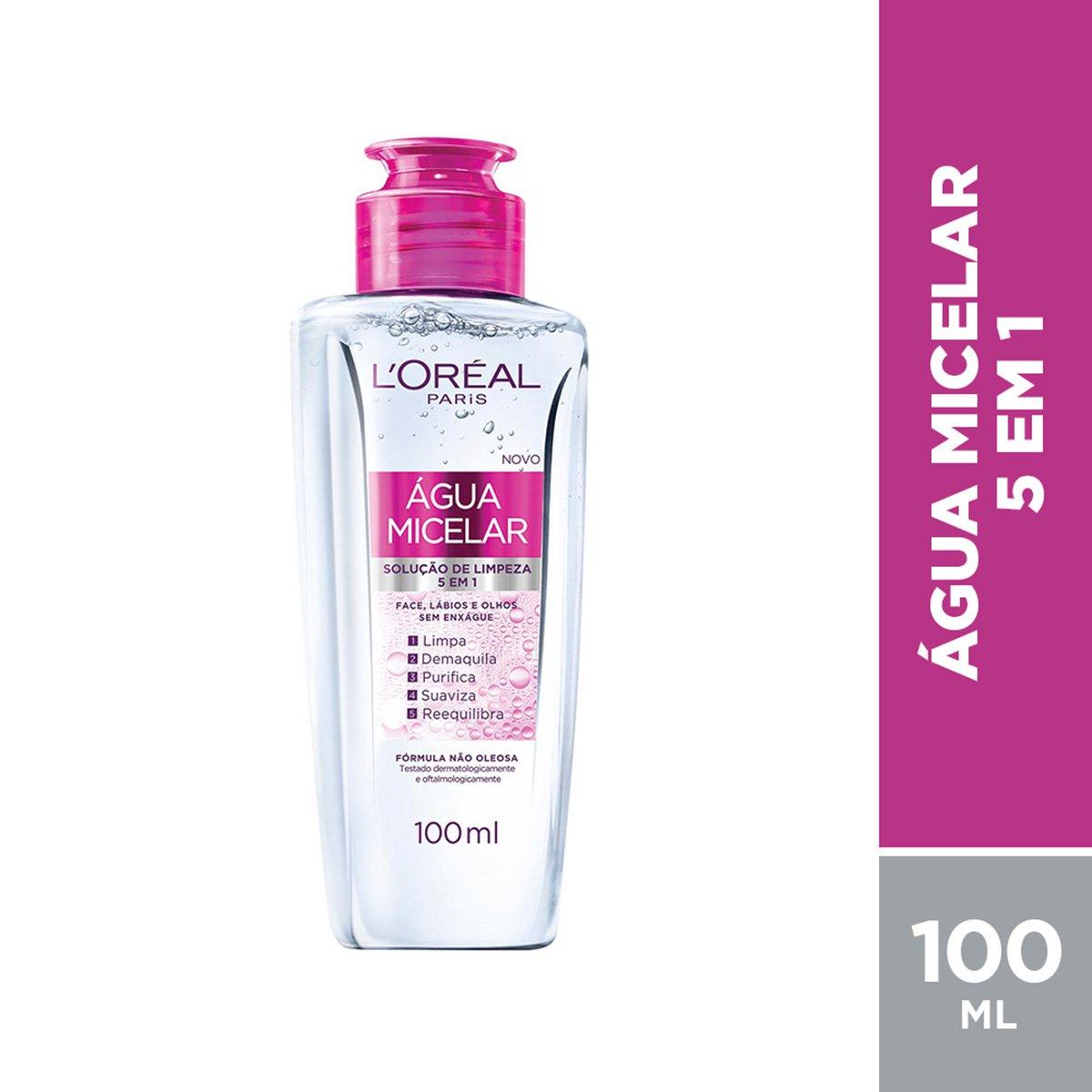 Água Micelar Solução de Limpeza 5 em 1 L'Oréal Paris - 100ml