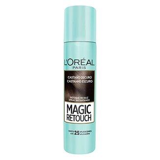 Retoque de Raiz L Oréal Paris Magic Retouch Spray Instantâneo Castanho  Escuro 75ml 31fff32ae29