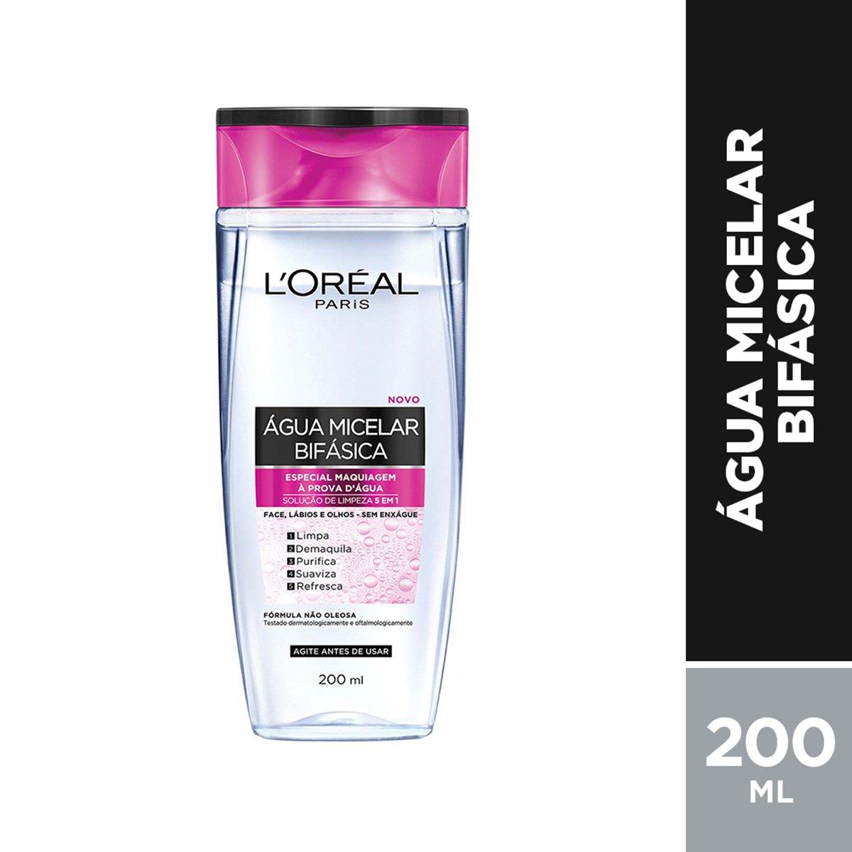 Água Micelar L'Oréal Paris Bifásica, 200ml