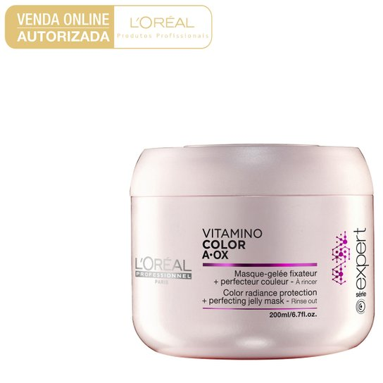 7197449fc Máscara de Tratamento L'Oréal Professionnel Vitamino Color A.OX 200g -  Incolor