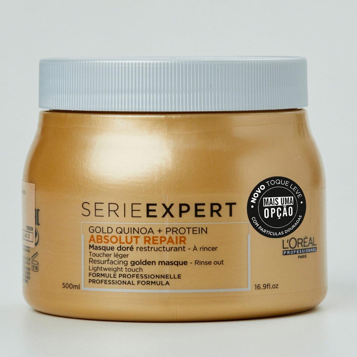 Máscara Light de Tratamento L'Oréal Professionnel Absolut Repair Gold Quinoa + Protein - 500ml