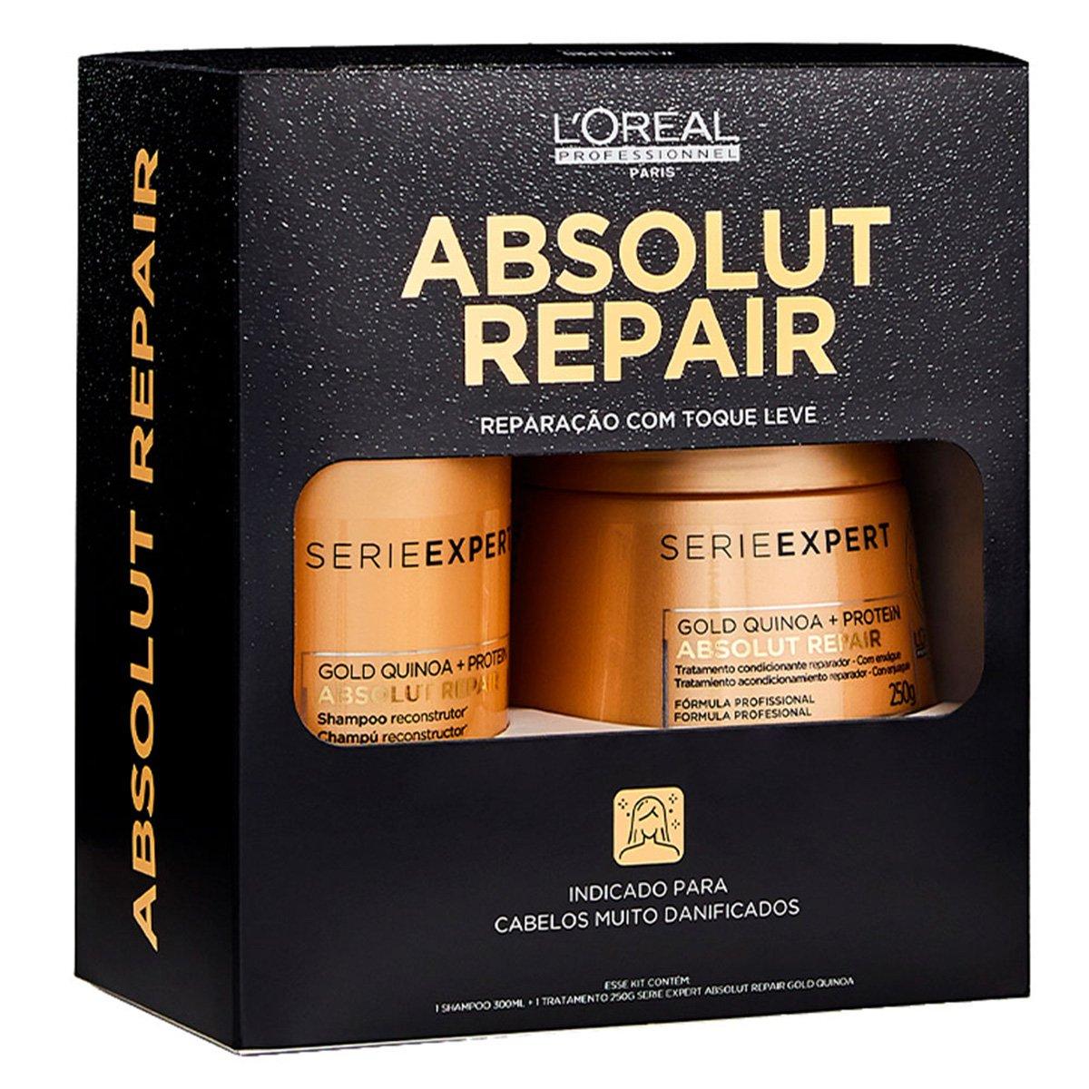 Kit L'Oréal Professionnel Absolut Repair Condicionador + Máscara de Tratamento