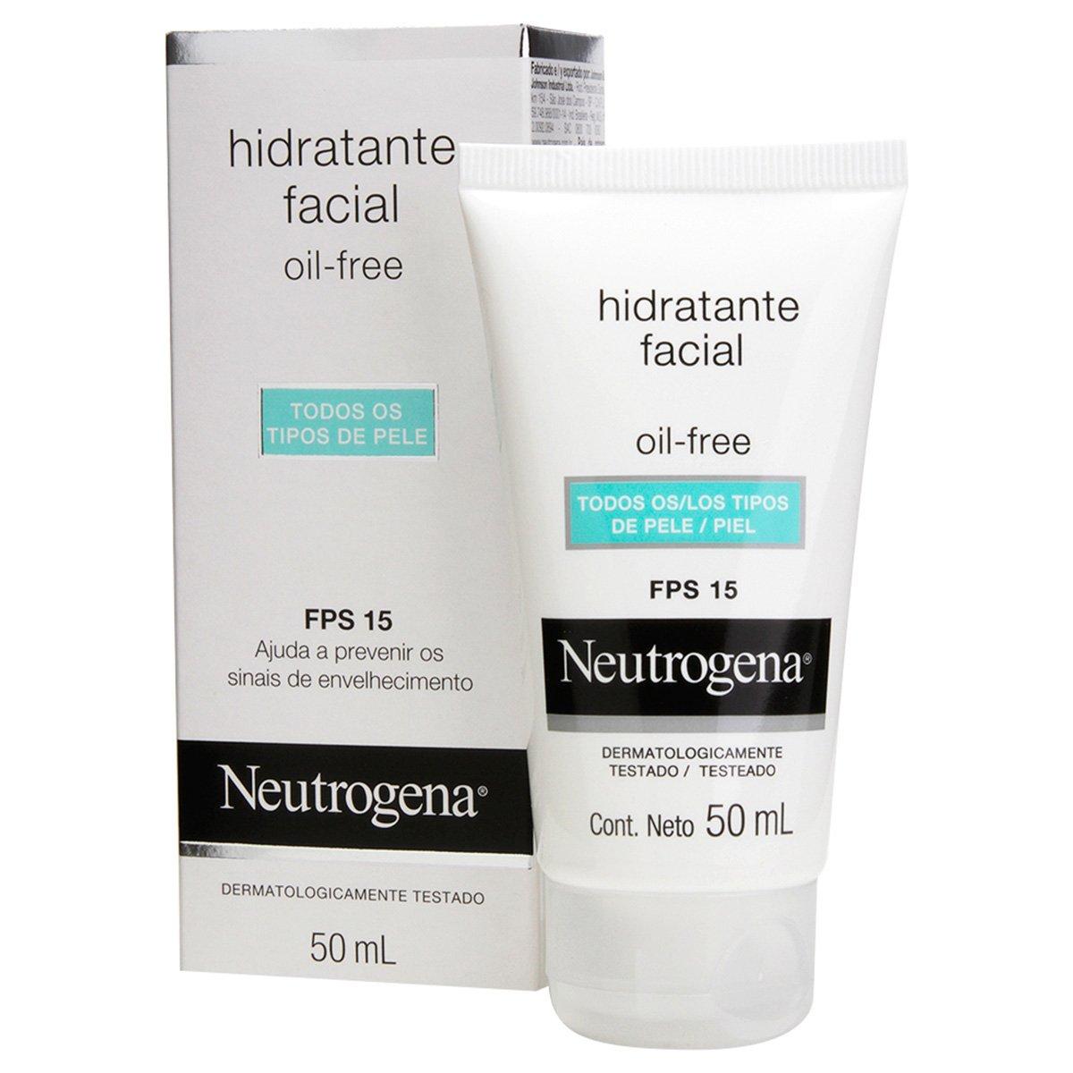 Gel Creme Hidratante Neutrogena Oil Free FPS 15 50ml