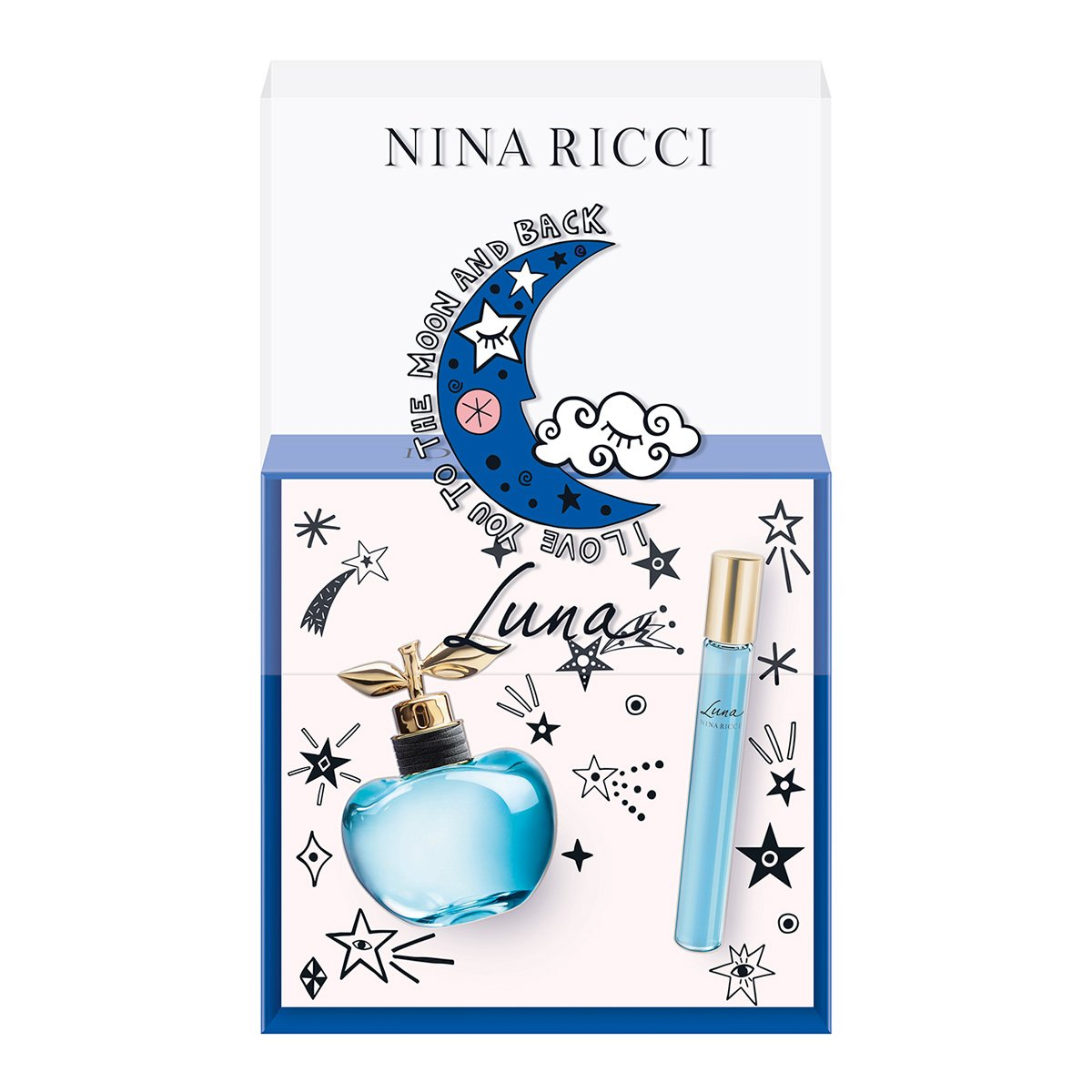 Kit Perfume Feminino Luna Nina Ricci Eau de Toilette 50ml + Roll On 10ml